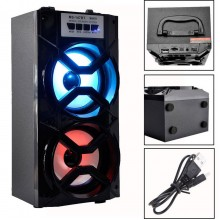 (Ready Stock) Outdoor Bluetooth Wireless Portable Speaker LED light Bass Karaoke AUX/FM Radio