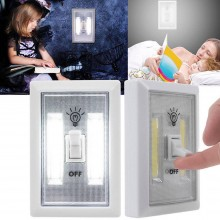 (Ready Stock) 2 Set Super Bright COB LED Cordless Battery Switch Wall Cabinet Emergency Night Lights