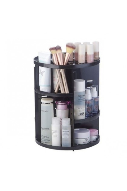 (Ready Stock) 360 Desktop Rotary Cosmetics Storage Rack Plastic Storage Box