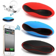 (Ready Stock) Mini X6 Rugby Wireless Bluetooth Stereo MP3 Speaker Radio FM/TF Card/U Disk