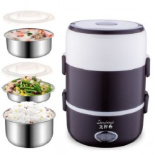 (Ready Stock) 3 Layer Electric Heating Lunch Box Storage Container Food Warm Heater Car Kit
