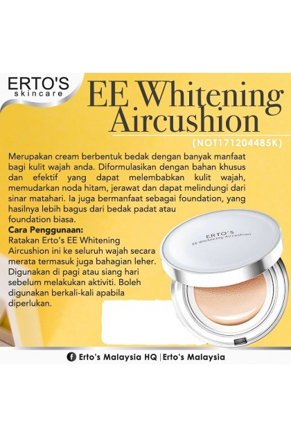 (Ready Stock) ERTO`S EE WHITENING AIR CUSHION Foundation Bedak Compact