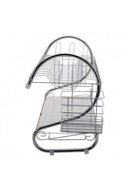 (Ready Stock) 2-Tier Multi-function Stainless Steel Dish Drying Rack,Cup Drainer Strainer