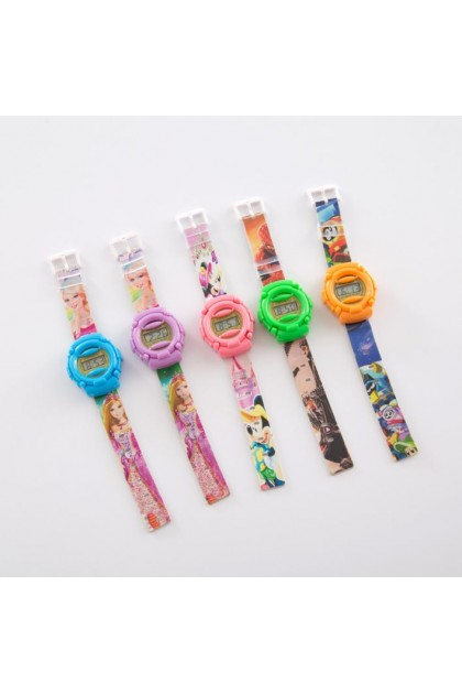 (Ready Stock) Kids Trend Cartoon Watch Cute Silicone Plastic School Electronic Gift