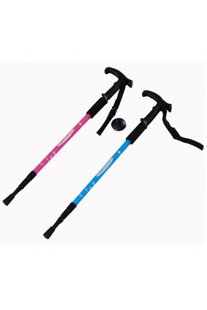 (Ready Stock) Adjustable Camping Hiking Walking Stick Trekking Pole Alpenstock For Mountain Climbing
