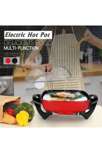 (Reject Item) Multifunction Electric Non-Stick Grill Hot Pot Pan Smokeless Fry Baking Cooking