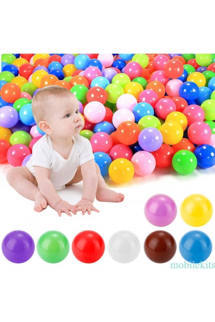 (Ready Stock) 100pcs Kids Baby Soft Play Balls Toy for Ball Pit Swim Pit Ball Pool Colorful