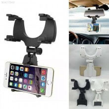 (Ready Stock) Car Vehicle Rearview Mirror Mobile Phone GPS Holder Bracket Stand Support