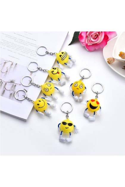 Keychain Emoji Cute Cartoon Key Ring Accessories Personalized Smiley Small Gifts
