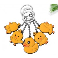 Duck Cute Cartoon Keychain Rubber Soft Silicone Keychain Gift