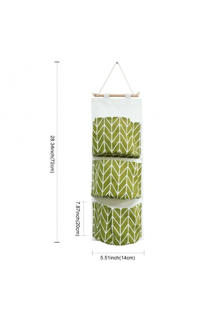 (Ready Stock) 3 Pockets Useful Wall Closet Home Hanging Storage Bag Linen Organizer Pouch
