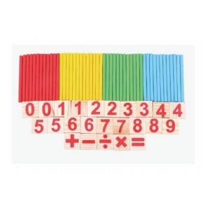 (Ready Stock) Alytimes Children Counting Stick Math Educational Toy Wooden Number