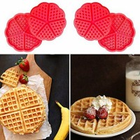 (Ready Stock) Silicone Mini Love Waffles Pan Baking Muffin Cake Chocolate Mold Tray DIY