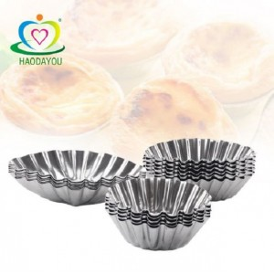 (Ready Stock) Stainless Steel Mold Cup Cake Egg Tart Cupcake Cake Cookie Mould Baking