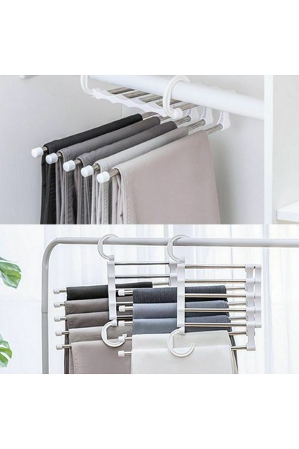 (Ready Stock) Drying Storage Rack Household Tools Stainless Steel Magic Pants Multi-function