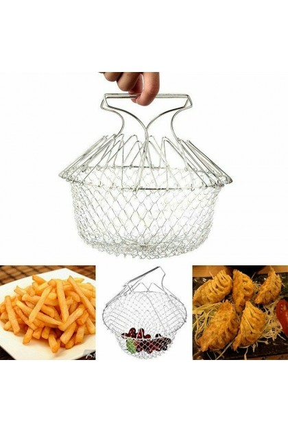 (Ready Stock) Stainless Steel Multifunction Telescopic Folding Basket chef basket Fried Filter