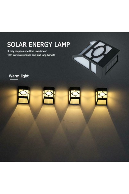 (Ready Stock) LED Solar Wall Lamp Path Light Outdoor Garden Fence Yard Lamps Lights
