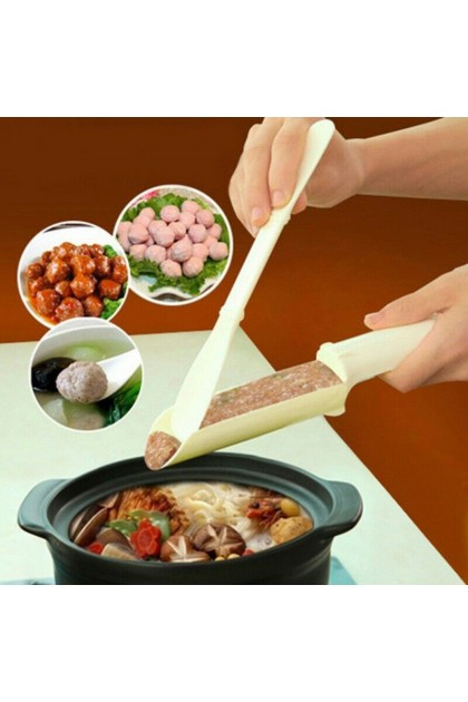 (Ready Stock) Plastic Meat Ball Maker Kitchen DIY Kids Food Fish Ball Mold Hot Pot Home Device