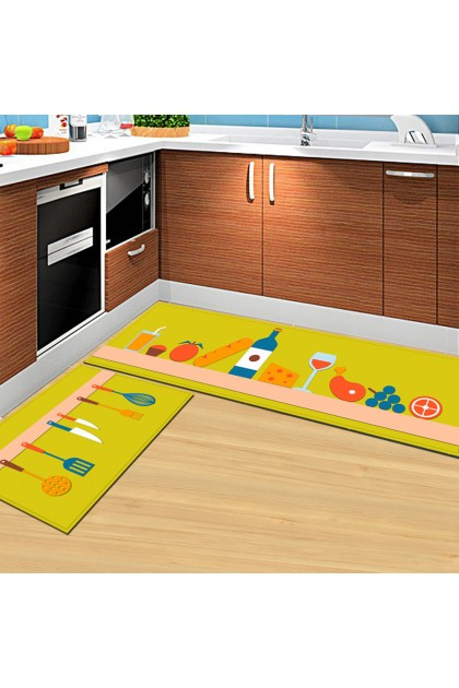 (Ready Stock) 40x120cm Non Slip Bathroom Mat Water Absorbent Carpet Kitchen Bedroom Rug Floor Door