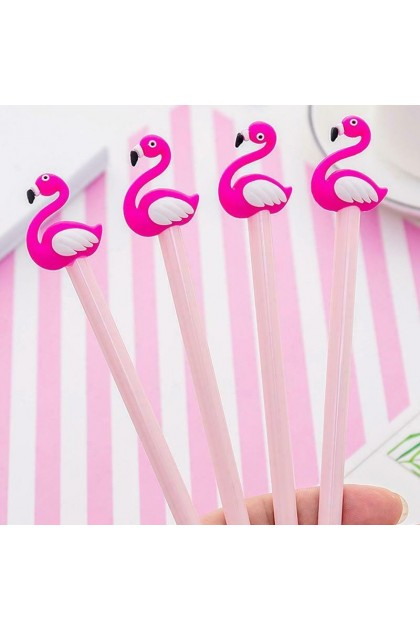(Ready Stock) 1pcs 0.38mm Lucky Pink Flamingo Gel Pen Signature Pen School Office Supply