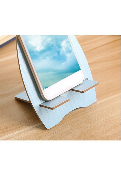 (Ready Stock) Cell Phone Wooden Cute Moible Phone Holder Mount Cradle Stand Desk Holder J