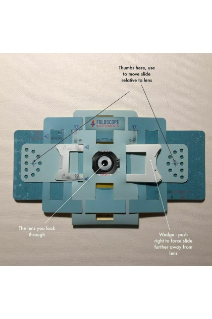 [ReadyStock] Foldscope Awesome Pocket Origami Microscope Kit with Carrying Case