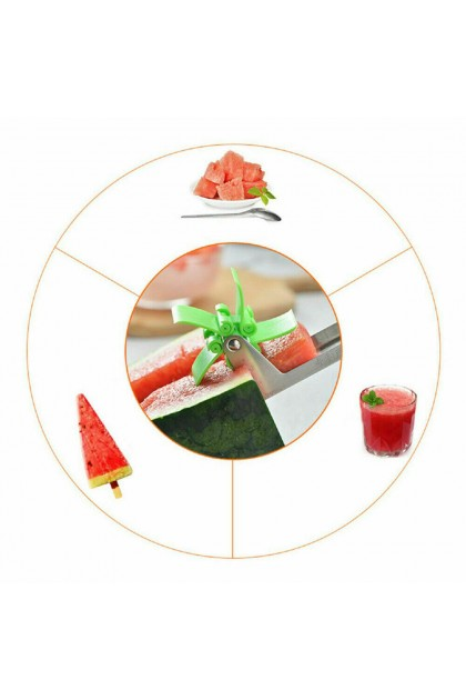 (Ready Stock) Watermelon Slicer Cutter Stainless Steel Windmill Artifact Fruit