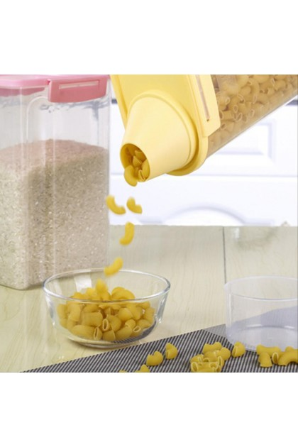 (Ready Stock) 1.9L Small Food Cereal Grain Bean Rice Plastic Kitchen Storage Container