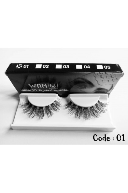 (Ready Stock) Bulu Mata Palsu Wan 3D Eyelashes 100% Human Hair