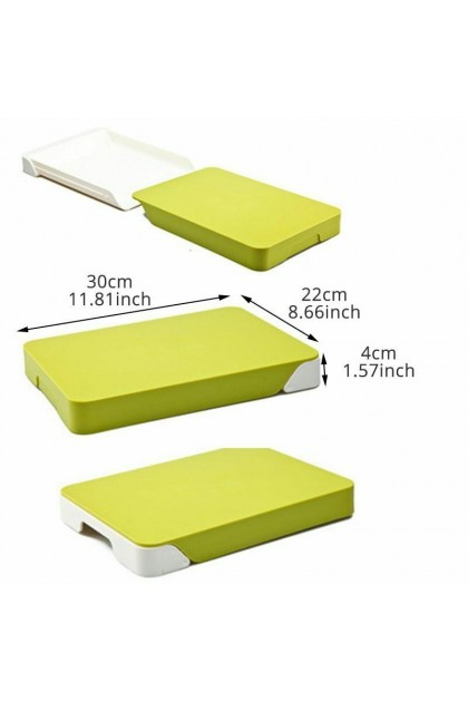 (Ready Stock) Kitchen Tools Cutting Board Drawer Type Plastic Vegetable Chopping Block