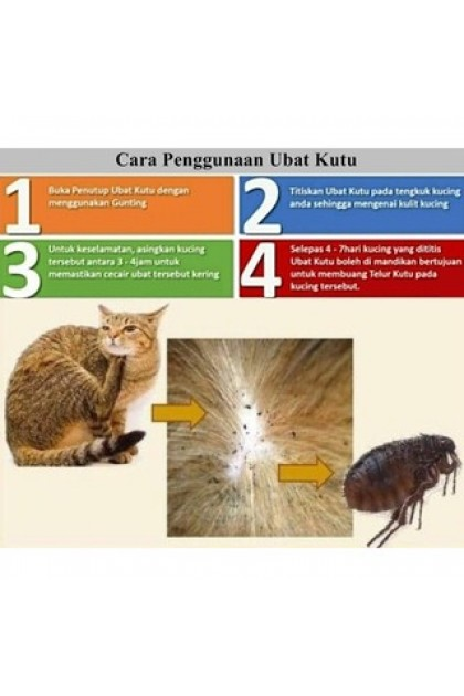 [EFFECTIVE IN 24 HOURS] Kitten Flea Clear 2.5 ML Spot On Flea Tick Treatment Medicine for Pets Cat