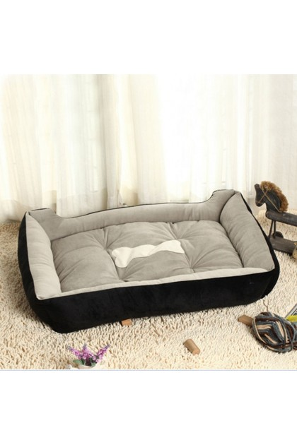 (Ready Stock) 30 x 28cm Warm Fleece Pet Dog Kennel Cat Kitten Puppy Bed Mat Pad