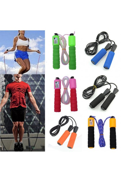(Ready Stock) Steel Wire Speed Skipping Jump Rope Adjustable Crossfit Fitness