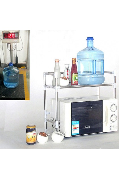 (Ready Stock) Stainless Steel Kitchen Microwave Stand Oven Shelf Spice Storage Bakers Rack