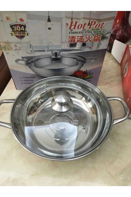 [2 FLAVOUR] Steamboat Largest Size Twin Divider Set Cooker Stainless Steel Hot Pot