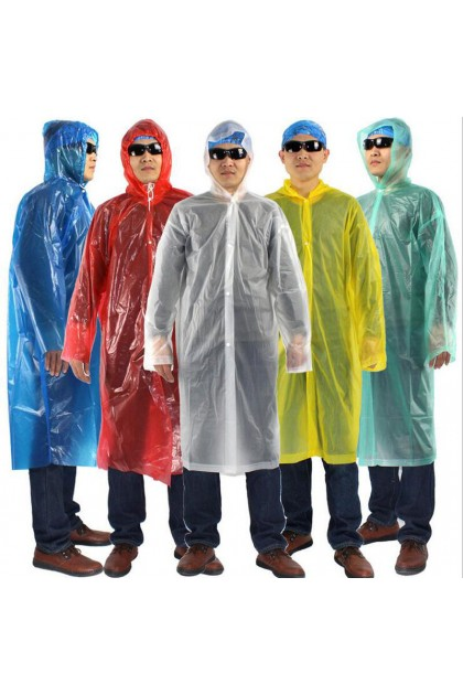 [MSIA SELLER] Disposable Rain Coat Transparent Raincoat Waterproof Coat Baju Hujan Kalis Air