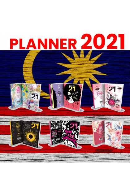 [5 x FREE GIFT] A5 Planner 2021 Perfect Bind Organizer Calendar Tabs Appointment Scheduel Book Keeper