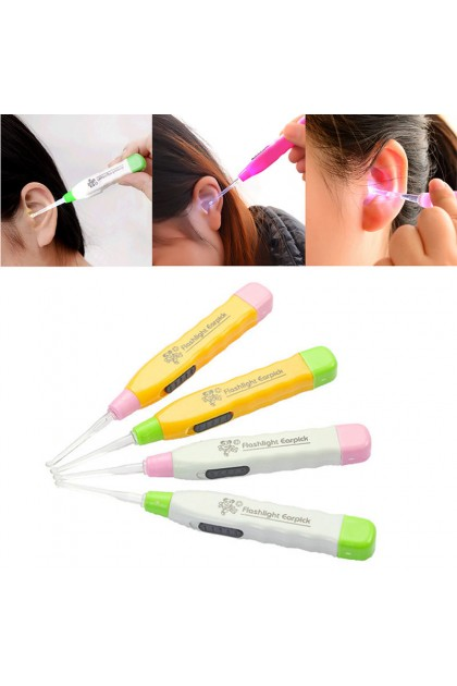 """HOT ITEM"" 2pcs Baby Earpick Tool Clean Ear Wax Curette Remover Pick Spoon Scoop With Light"