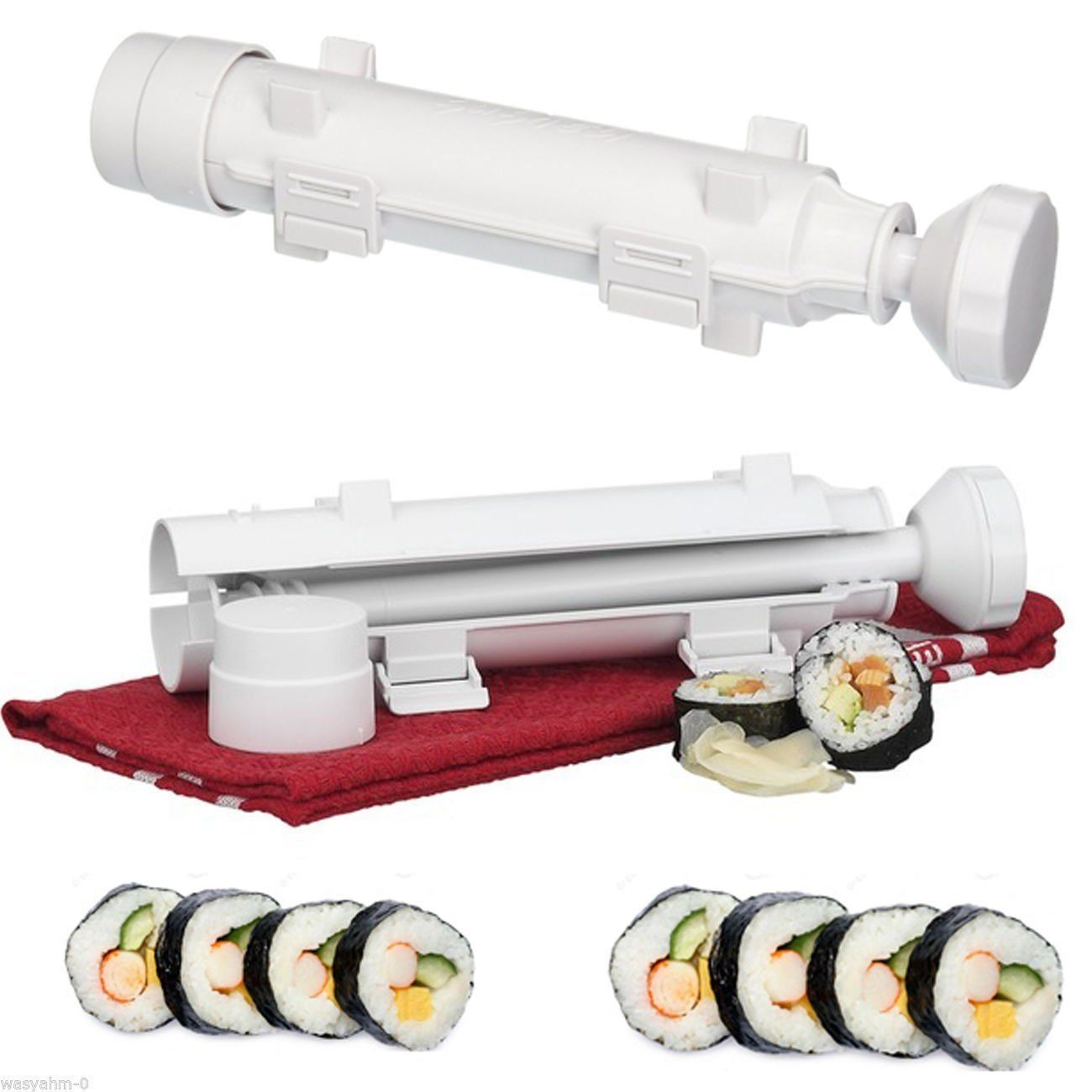 Ready Stock) Sushi Maker Kit Rice Roll Mold Kitchen DIY Easy Chef