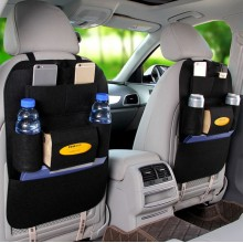 (Ready Stock) Black Auto Car Seat Back Multi-Pocket Storage Bag Organizer Holder Accessory