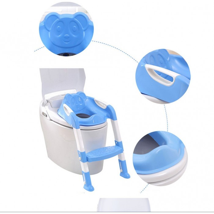 6931a3e2ec Baby Toddler Children Kids Potty Seat with Step Up Ladder Cover Toilet  Folding