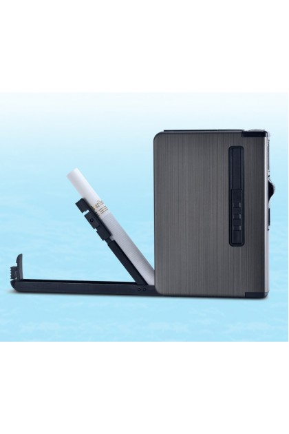(Ready Stock) Automatic Cigarette Case Dispenser with Built in Torch Lighter