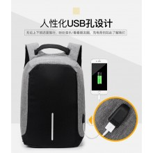 (Ready Stock) Grey Anti Theft Sling Bag Shoulder Chest Cross Body Backpack Lightweight Casual