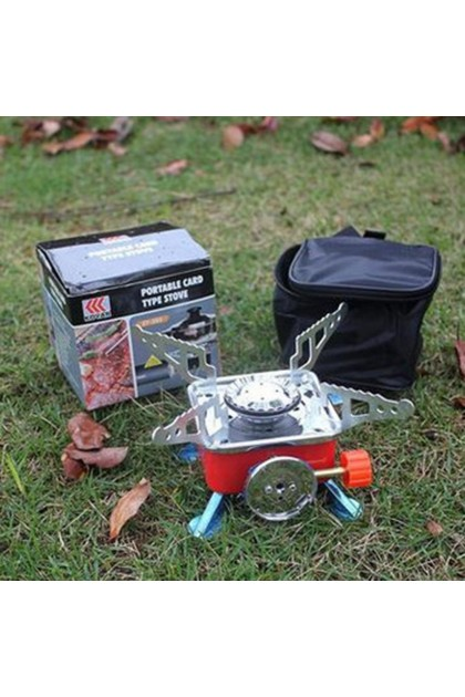 (Ready Stock) Mini Portable Lotus Camping Outdoor Picnic Gas Stove Cooking Windproof