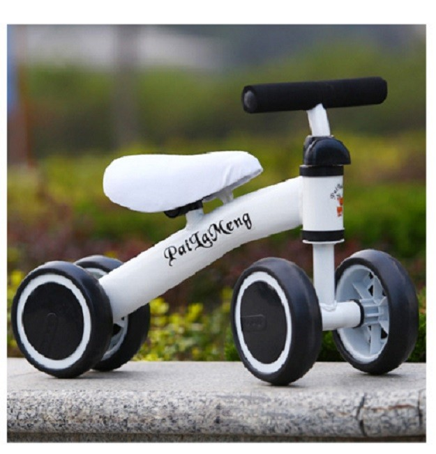 Ready Stock) White Three Wheel Mini Bicycle Baby Children Bike