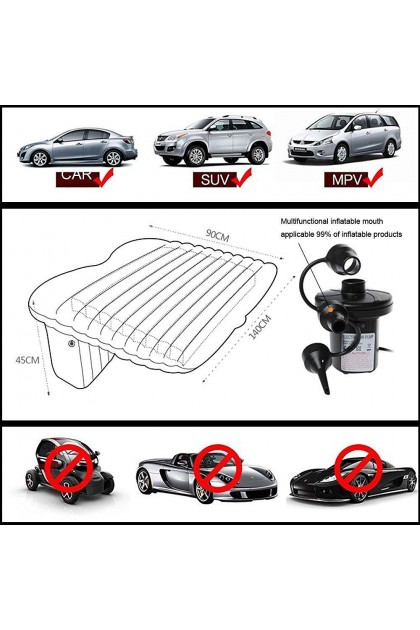 (Ready Stock) Back Seat Car Mattress Truck Air Bed Inflatable Sleeping Mat Pillows Pump