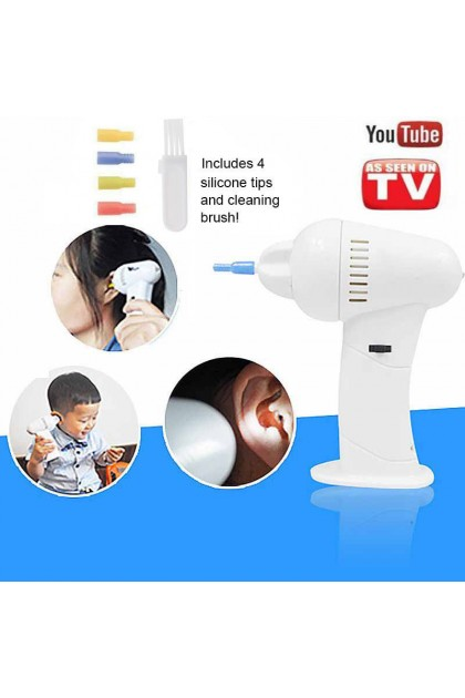 (READY STOCK) Hot WaxVac Electric Ear Vacume Cleaner Soft Wax Remover Painless