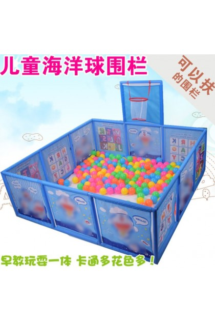 (Ready Stock) Cartoon Children's Plastic Playpen Baby Crawling Safety Guardian Toddler