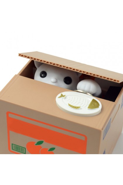 (Ready Stock) Creative Cat Shape Stealing Coin Electric Piggy Bank Saving Money Box Toy Gifts